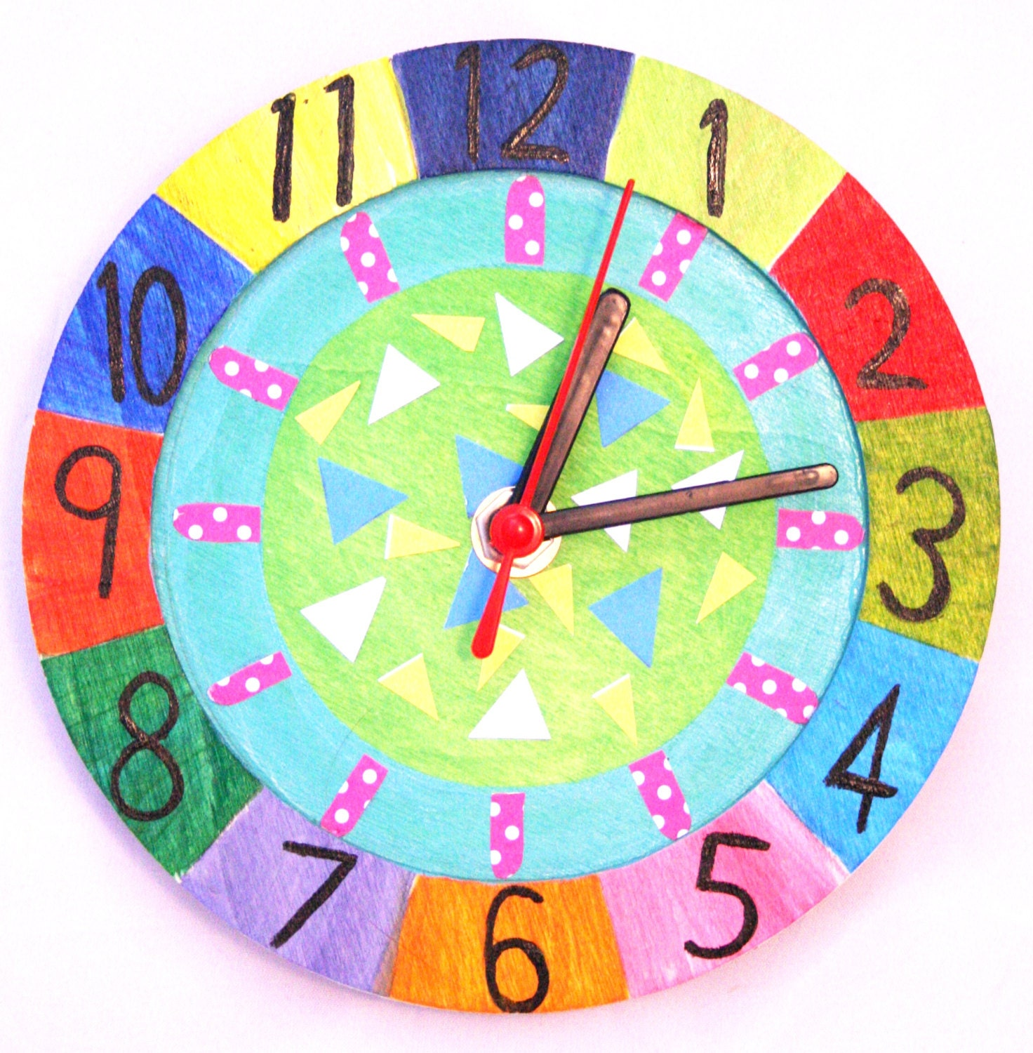 Wooden clock kit do it yourself working clock decorating kit for Small clocks for crafts