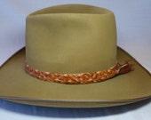 12 strand kangaroo leather hat band
