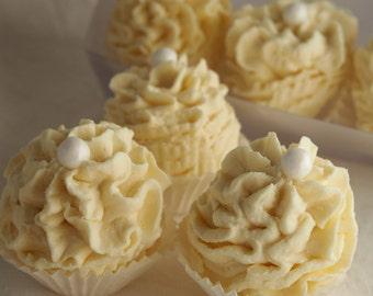 4 Badeschäumchen Vanille je 20 g in Klarsicht Geschenkbox
