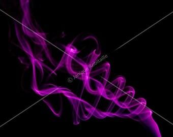 Fine art photography abstract purple violet smoke wall art home decor decoration canvas photograph photo