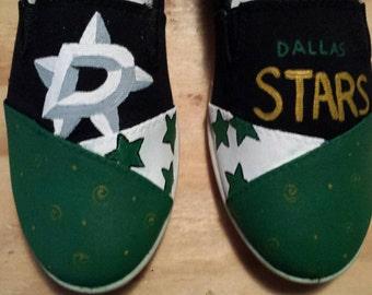 Custom hand painted dallas stars shoes