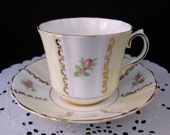 Elegant Old Royal Teacup and Saucer Set