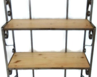 Handcrafted Wrought Iron Baker's Rack