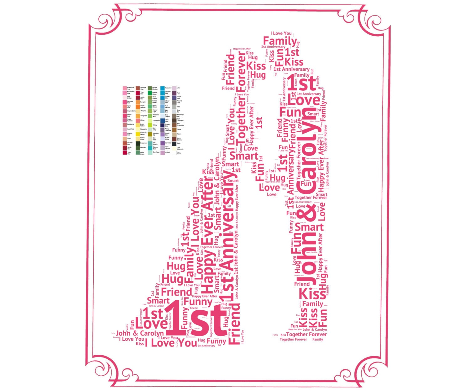 Personalized st anniversary gift ideas