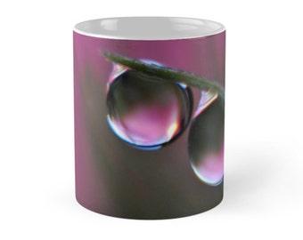 Hot Pink Water Drop Ceramic Mug, 11 ounce Pink Mug, Bright Pink Ceramic Mug, Fushia Pink Ceramic mug
