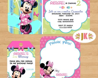 Minnie Mouse  Printed Invitations