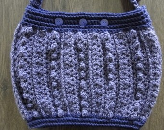 Crochet Purse pattern with popcorn stitch