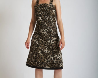 EYELET Army Leopard dress
