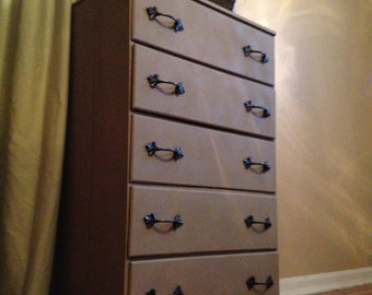 Sand and Leaf Dresser Drawers