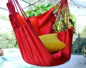 Simply Red - Fine Cotton Hammock Chair, Made in Brazil