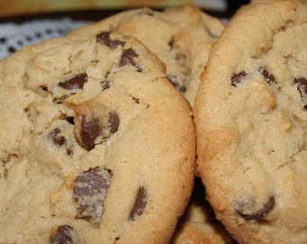 Chocolate Chip Cookies - Mother's Day Gift, One Dozen, Made to Order, Ships Fast, Homemade, Edible Gift, Cookies