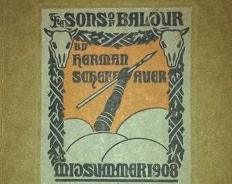 The sons of baldur 1908 signed book by author herman Scheffauer