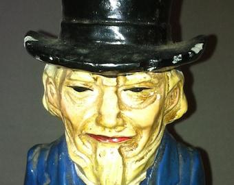 Chalk figure Uncle Sam bank