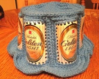 Crochet 1970's Vintage Inspired Michelob Golden Light Beer Hat