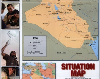 24x36 Poster; Iraq, Situation Map Us Army 2004