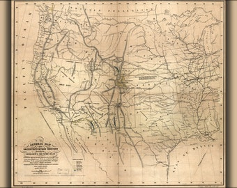24x36 Poster; Map Of The United States 1859