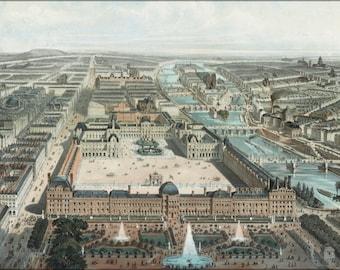 24x36 Poster; Paris France 1850