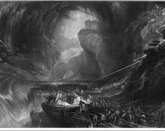 24x36 Poster; The Deluge Engraving By William Miller Bible Art 1844