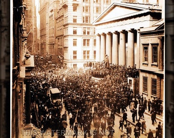 24x36 Poster; Panic Of 1907 Bankers' Panic,  Wall Street Nyse