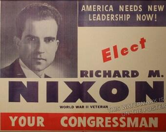 24x36 Poster; Richard Nixon 1946 Congressional Campaign