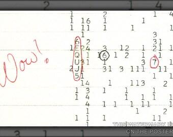 24x36 Poster; Wow Signal Seti