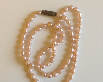 Vintage Pearl Necklace Handmade