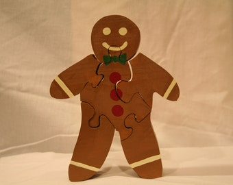 Gingerbread Man Holiday Christmas Cookie Puzzle
