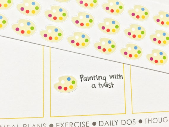 36 paint palette stickers perfect for your erin condren for Paint planner