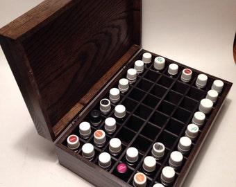 Large  Essential Oil  Holds 40 (15ml) bottles! Storage/Box/Rack/holder/Rustic