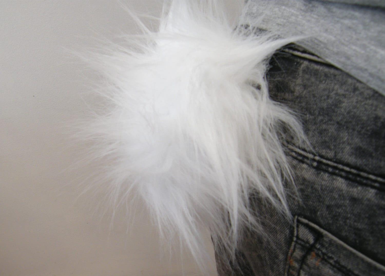 Fluffy Rabbit Tail Bunny Rabbit Pin On Tail Panda Polar Bear