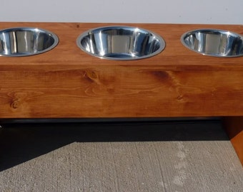 Brand New Elevated Pet Feeder, 20 Inch, Larger Center Bowl for Dogs - Free Shipping