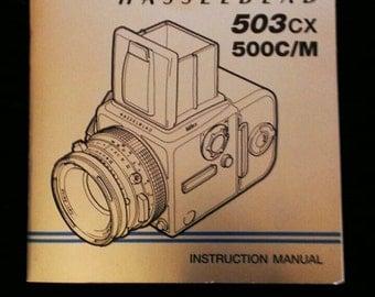 Hasselblad 503 CX 500c/m instruction book