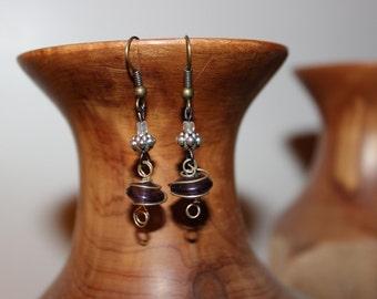 Purple Dangle Earring