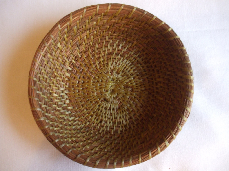 Handmade Pine Needle Baskets : Handmade pine needle basket home decor pinestraw by