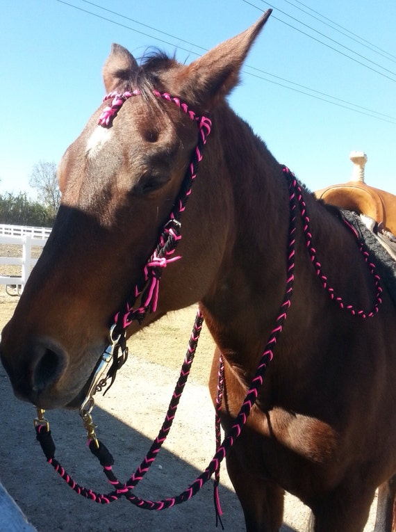 Horse Tack: Paracord Bridle/ Split Reins by ...