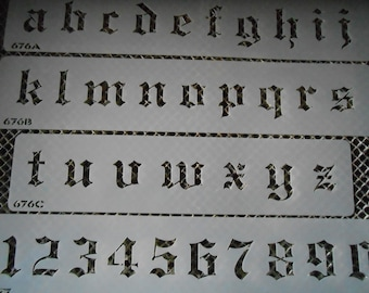 Large Lower Case& Letters Old English Set 112B!