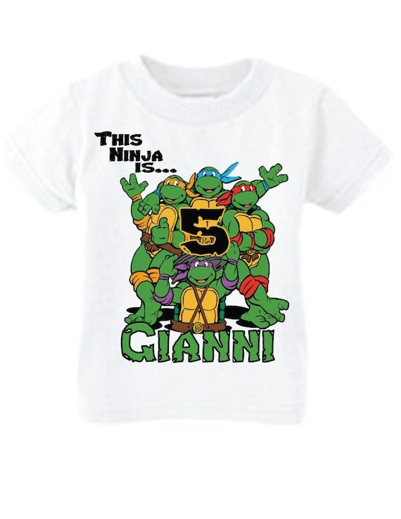 Ninja Turtle Birthday Shirt By Littlepersonaltouch On Etsy
