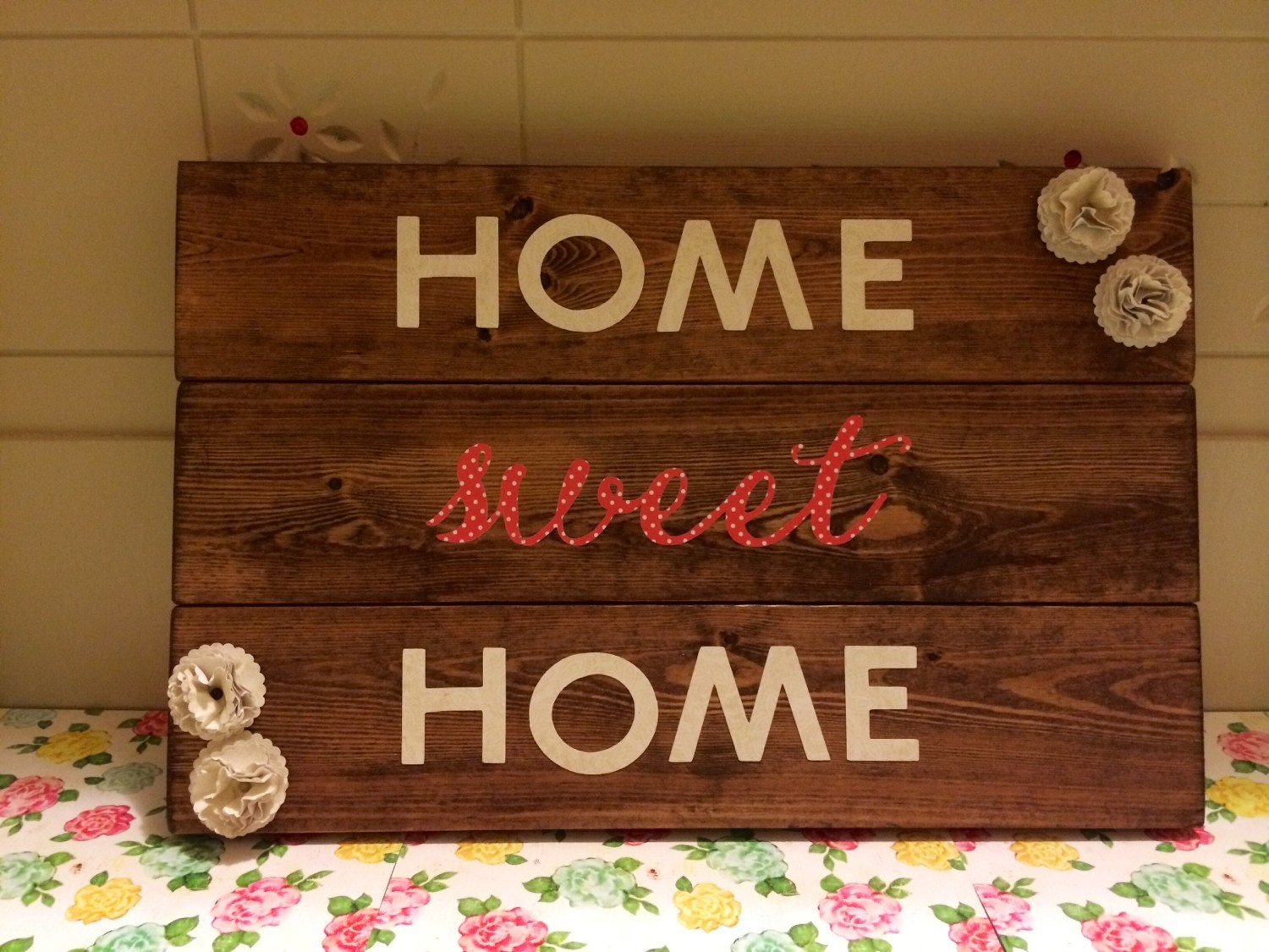 Home Sweet Home Sign by TrincketsByTrish on Etsy