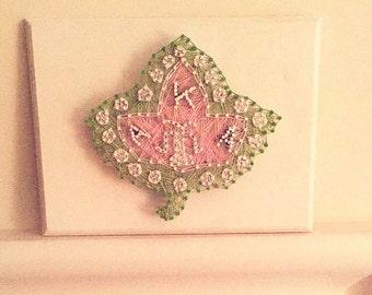 Ivy Leaf String Art