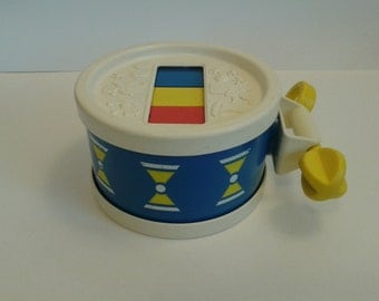"Vintage Fisher Price ""#421 Xylo Drum"" 1976 Complete"