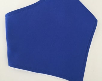 Solid Royal Blue baby bandana bib,drool bibs,teething bib