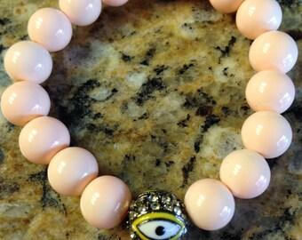 Evil eye bead bracelet