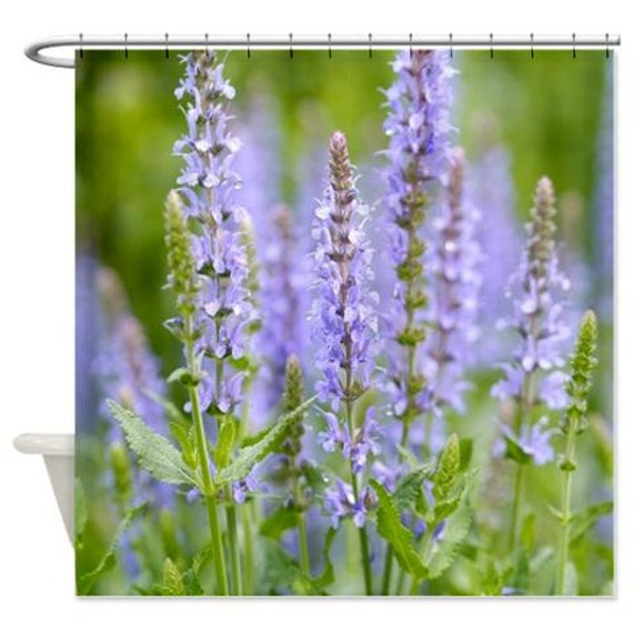 Curtains Ideas botanical shower curtain : Nature shower curtain green lavender botanical shower curtain