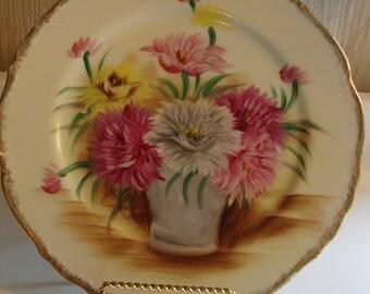 Vintage Aster Flower Decorative Plate