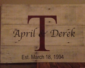 Personalized Signs! Great for Wedding or Anniversary Gift!
