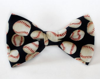 Baseball Bow Tie | Bow Tie for Men | For Him | Bowtie | Self Tie | Dog Bow Tie | Mens Bow Tie | Boys Bow Tie | Wedding Bow Men