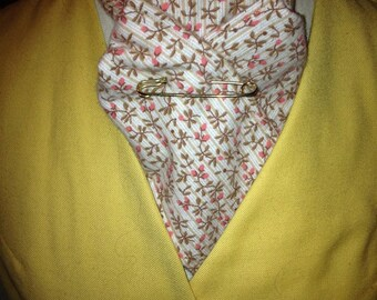 Handcrafted Stock Ties--Tan and Brown with Peach Floral- Flannel