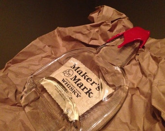 Makers Mark melted bottle tray