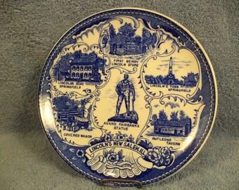 Lincoln's New Salem ILL. Souvenir Plate