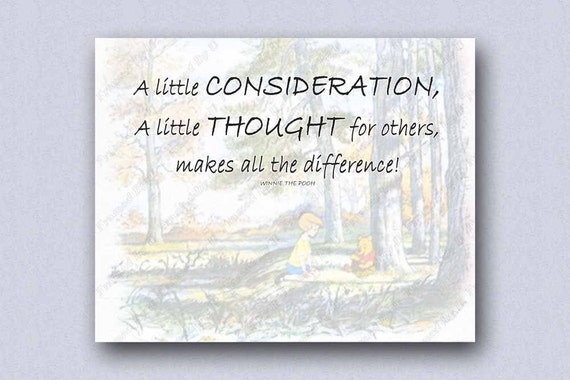 A Little Consideration A Little Thought For Others Winnie The